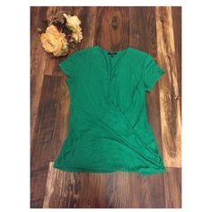 Green Blouse Green short sleeved wrap blouse. Very comfy material and in good condition. Cupio Tops Blouses