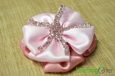 finished layered ribbon flower hair clip