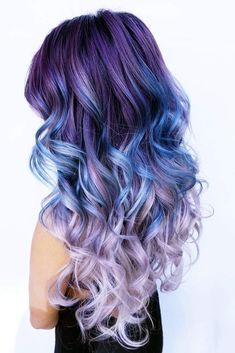 Cool Ideas of Purple Ombre Hair ★ See more: http://glaminati.com/cool-ideas-purple-ombre-hair/