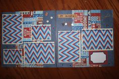July 4th -12 x 12 premade scrapbook layout titled I Love America- 2 pg- handmade | Crafts, Scrapbooking & Paper Crafts, Pre-Made Pages & Pieces | eBay!