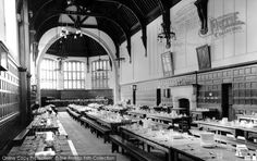 Leatherhead, Dining Room, St John's School c1955, from Francis Frith School Days, School Holidays, St John's, Dining Room, Street View, Large Homes, Surrey, Historical Photos, Creative Inspiration