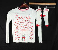 Gymboree Size 10 Valentine's 2014 Shirt Socks Dog Umbrella Raining Hearts #Gymboree #Everyday