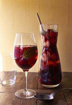 The most gorgeous drink of the spring/summer -- sparkling rose wine, lush berries, a bit of berry liqueur, some white grape juice. Fine the big glasses. From Katie Workman/ themom100.com.