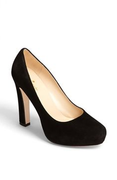 Free shipping and returns on kate spade new york 'nessle' pump at Nordstrom.com. A soaring almond-toe pump cast in lush Italian suede is boosted with a chunky set-back heel and hidden platform.