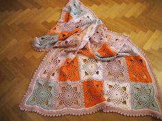 """Crocheted """"Sunset"""" blanket"""