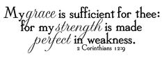 In my weakness, He is strong.