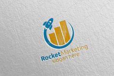 Rocket Marketing Financial Logo 46 by denayunebgt on @creativemarket Marketing Logo, Financial Logo, Logos, Logo