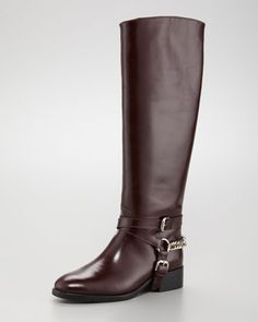 McQ Alexander McQueen Chain-Halter Riding Boot, perfect for the fall season.