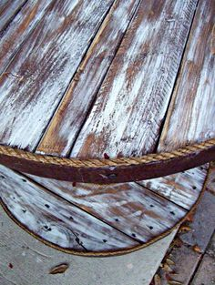 Rustic ReDiscovered: Cable Spool and Barrel Table