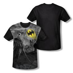Batman Heed the Call Sublimation Print Adult Black Back T-Shirt Back To Black, Solid Black, Batman T Shirt, Edge Design, Mens Tops, Clothes, Shopping, Products, Sports