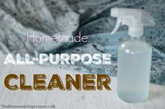 How to make your own homemade all-purpose cleaner in minutes with water, white vinegar, and your favorite essential oils.