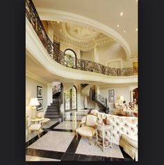 15 Interior Design Ideas of Luxury Living Rooms Luxury Interior, Home Interior Design, Contemporary Interior, Mansion Interior, Luxury Furniture, Interior Sketch, Interior Stairs, French Interior, Interior Ideas