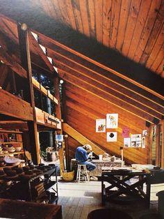 Pottery studio, Tam Irving, 1973