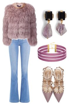 """الحلم السامي"" by enshi on Polyvore featuring interior, interiors, interior design, home, home decor, interior decorating, Paige Denim, Ralph Lauren Black Label, Valentino and Marni"