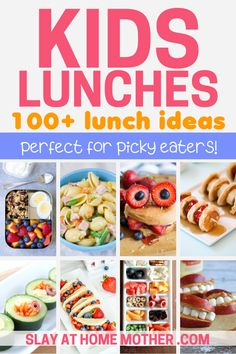 These easy and adorable school lunch ideas are perfect for kids - even picky eaters love these unique school lunches! These are great to make ahead of time for busy weekday mornings for a fun and tasty lunch for your kids. #school #parenting #schoollunches #lunchideas #kidslunch #toddlerlunch #toddlersnacks #pickyeaters #pickyeater #slayathomemother #kidslunches #preschool #kindergarten #elementaryschool