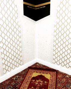 desain dinding mushola ka'bah