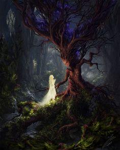 🎨The Sleeping Green - Öinen-Matkaaja (Nightly Traveler) 🖌Artist - Julian Bauer 🔥Tag be featured! Fantasy Artwork, Dark Fantasy Art, Fantasy World, Fantasy Love, Fantasy Forest, Magical Creatures, Fantasy Creatures, Image Zen, Fantasy Kunst