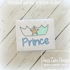 Prince Crown Applique - 4 Sizes! | What's New | Machine Embroidery Designs | SWAKembroidery.com Jazzy Zebra Designs