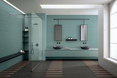 DIZAJNOVÁ KÚPEĽŇA - Výnimočné talianske obklady / BENEVA Terrazzo, Color Mate, White Wall Tiles, Tile Suppliers, Estilo Retro, Wall Cladding, Style Tile, Downstairs Bathroom, Wet Rooms