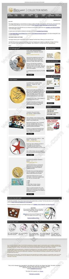 Company:  The Perth Mint Australia Subject:  Lost And Endangered Release, Limited Lunar Dragons and WIN Perth Mint coins!               INBOXVISION providing email design ideas and email marketing intelligence.    www.inboxvision.com/blog/  #EmailMarketing #DigitalMarketing #EmailDesign #EmailTemplate #InboxVision  #SocialMedia #EmailNewsletters