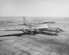 Convair YB-60 1952 ... With the B-36 Peacemaker in the background