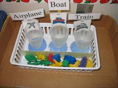 This would be a perfect activity or center when working on your transportation unit. These are fairly common counters that many teachers have in their math sets. New way to use an old tool. Life Skills Classroom, Autism Classroom, Special Education Classroom, Preschool Classroom, Kindergarten, Classroom Ideas, Early Education, Classroom Activities, Transportation Activities