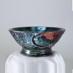 Ceramic Salse Yarn Bowl Pottery Knitting Bowl by CHpottery on Etsy, $37.00