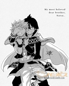 """Omg just had a thought... What if this is how it's revealed!! Natsu all beaten up and zeref holding him up by his hair or something and he just smiles as he reveals to everyone by saying: """"my dear beloved brother... Natsu"""" omg I'll scream!! Comment your thoughts!!"""