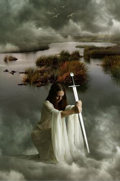 Lady of the Lake,  Viviane, who  learns her magic from Merlin, he ultimately becomes madly in love with her....