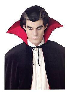 Modern Vampire Wig Adult Costume Wigs, Costume Shop, Costume Makeup, Vampire Fashion, Mens Vampire Makeup, Modern Vampires, Halloween Wigs, Halloween Ideas, Halloween Makeup