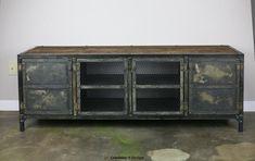 Vintage Industrial Buffet/Credenza Reclaimed wood top by leecowen, $1600.00