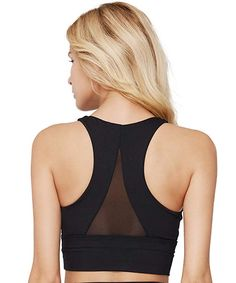 30bda77a88 light   leaf Womens Racerback Wide Straps Sports Bra Padded Seamless High  Impact Support for Yoga