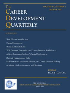 NCDA | Career Development Quarterly Career Development, Professional Development, Family Roles, Public Information, Career Counseling, Cambridge University, Science Biology, Online Library, Working On It