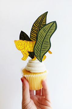 Printable Jungle Cupcake Toppers