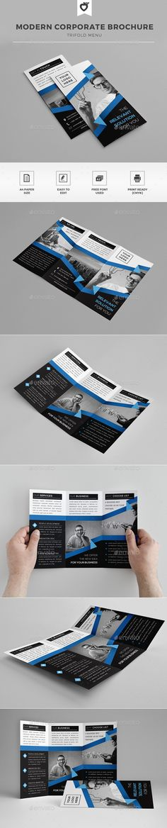 Z-fold Brochure Brochures, Illustration software and Icon - software brochure
