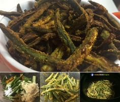 "Kurkuri Bhindi recipe step by step. ""Kurkuri"" means crispy in Hindi and one of the popular recipe step by steps for Bhindi is Kurkuri Bhindi i.e., Crispy Bhindi. This is a very yummy recipe step by step which is normally made by deep frying the Bhindi / Okra / Lady Fingers."