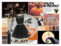 ☾-this is halloween everybody make a scene by nerd-ville on Polyvore featuring polyvore fashion style Manolo Blahnik Urban Decay MAC Cosmetics H&M Hedi Slimane clothing