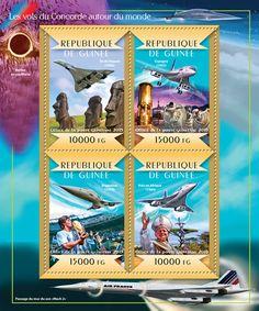 Post stamp Guinea-Bissau GU 15104 aConcorde flights around the World (Easter Island, 1986, {…}, Flights in Africa, 1989)