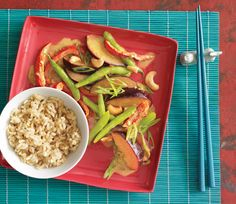 Curried Plum and Green Bean Stir-Fry Recipe  at Epicurious.com