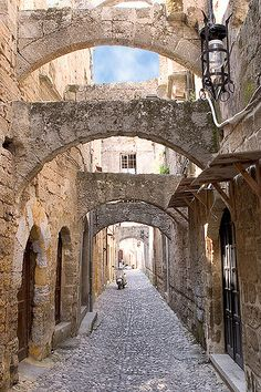 ~ Living a Beautiful Life ~ Ancient city of Rhodes on the island of Rhodes in Greece.