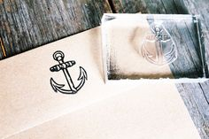 Anchor Rubber Stamp - DeepSeaStamps.