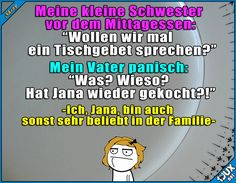 Angst vor den Kochkünsten x.x #kochen #essen #Humor #gemein #Sprüche #lachen #Witze #lustigeBilder #Angst #Tochter #Memes #lustigeMemes Stupid Quotes, True Quotes, Best Quotes, Really Funny, Funny Cute, Hilarious, Funny Facts, Funny Memes, Jokes