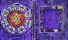 Angelia's Art Journals: Tuesday Tips and Techniques: Puzzle Pieces