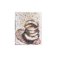 Tempera painting of a ceramic wobble cup from Studio Emma Sophia by Adéle du Plessis. She ises coffee as a textured background for the tempera Tempera, Adele, Textured Background, Symbols, Paintings, Ceramics, Coffee, Studio, Art