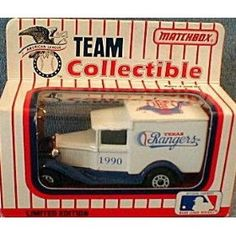 Texas Rangers 1990 Matchbox MLB Diecast Ford Model A Truck White Rose Collectible Toy Car 1:64 Scale by MLB   $29.49
