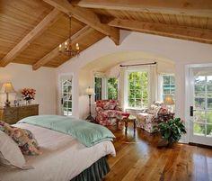 Montecito Guest House - traditional - bedroom - santa barbara - by Jessica Risko Smith Interior Design Dream Bedroom, Home Bedroom, Master Bedroom, Bedroom Decor, Bedroom Ceiling, Pretty Bedroom, Bay Window Bedroom, Airy Bedroom, Bedroom Photos