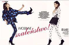Stylist Joanna Horodyńska in both Shabatin suits.