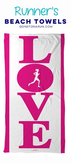 Show off your love for running with our beach towels for runners! Shop this style and more exclusively on goneforarun.com.