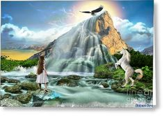Living Waters Greeting Card by Dolores Develde
