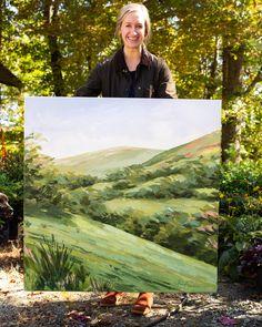 Impressionist Landscape, Impressionist Paintings, Landscape Art, Landscape Paintings, Watercolor Paintings, Landscapes, Framed Botanical Prints, Acrylic Painting Inspiration, Font Art